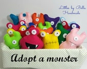 Adopt a  monster party station favors  adopt a  Monster Party theme Favors monster supplies child friendly monsters Hallowen plushies