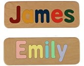 Name Puzzle - Hand Made - Custom - Personalized - Wood Name Puzzle