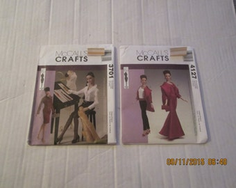 """Lot 2 MCCALLS Patterns Fashion DOLL Tyler Wentworth Collection 16"""" doll. NIP 3701 & 4127"""