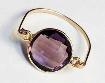 Amethyst Ring   Amethyst Gemstone Ring  February Birthstone  Purple Ring  Amethyst Jewelry