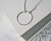Silver circle necklace, minimalist necklace, simple necklace