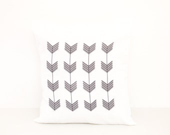 Pillow Cover | Decorative 18x18 Arrows Pillow | Couch Pillow | Cushion Cover | Typography Throw | Modern Home Decor | Unique Gift for Her