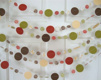 Autumn circle garland