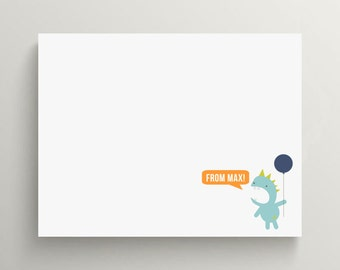 monster note card set // kids stationery // personal stationery // personalized // monsters inc  //  little monster