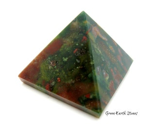 Bloodstone Pyramid, Metaphysical, Heliotrope, Artisan, Crafts, Egyptian, Crystal Healing, Arts & Crafts