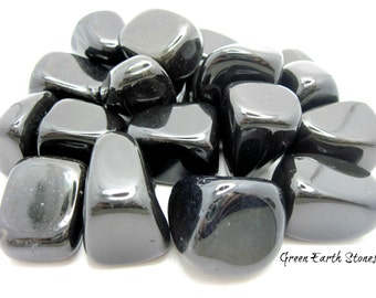 One Black Onyx  Tumbled Stone, Chunky, Large, Premium, Feng Shui, Wicca, Reiki, Healing Crystals,