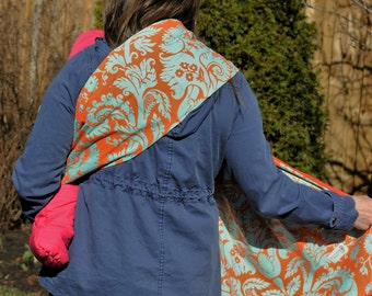 Spring Damask- Adjustable Baby Sling