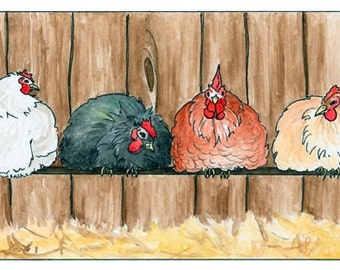 Chickens archival print