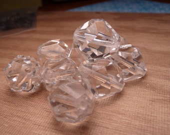 Large Crystal Glasss Nugget Beads 16x13mm - 4pc SALE