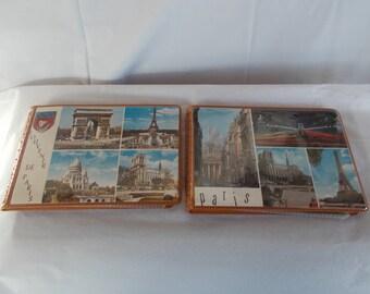 Vintage Souvenir Of Paris And France Small Photo Albums // Lot