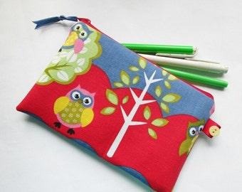 Cute Little Owls Pencil/Make-up Case