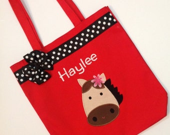 Personalized Tote Bag, Personalized Tote, Horse Tote Bag, Horse Tote, Horse Gift, Personalized Horse,  Princess Horse bag, Horse party