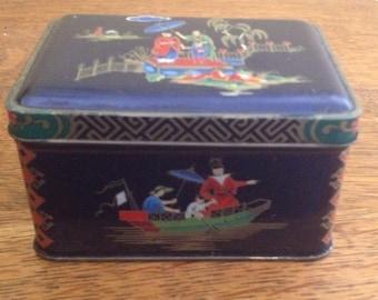 Pretty Vintage Japanese Tea Tin