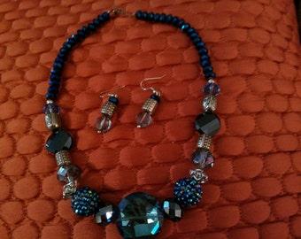Blue Brilliance Necklace set