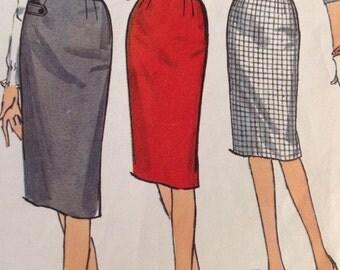 Vintage Simplicity 4529 Slim Wiggle Skirt Simple to Make