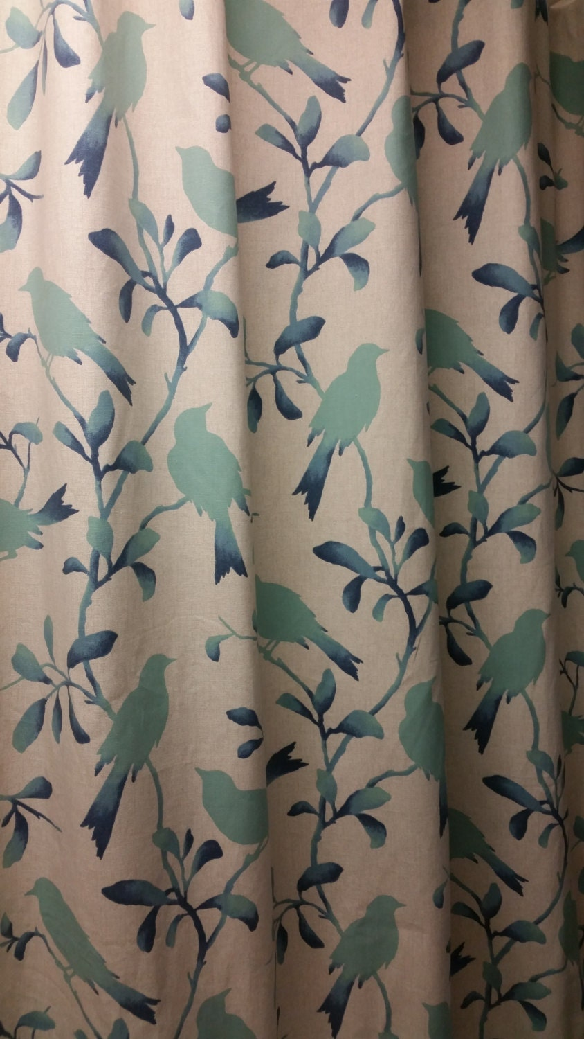 Custom Made Designer Fabric Shower Curtain Or By Kirtamdesigns