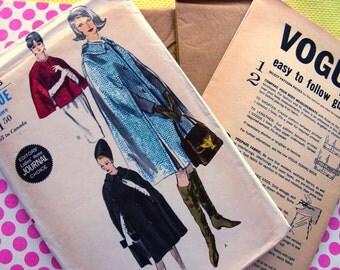 UNCUT * 1960s Vogue  Pattern 6032  * elegant Cape in Two Lengths  - FF - Size Medium
