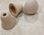 wooden craft bells and head