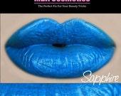 Blue Lip Gloss-Sugar Babies Jojoba Lip Glaze-Pink Sugar Rush Flavor-Sapphire