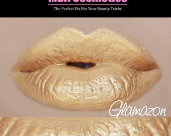 Gold Lip Gloss-Sugar Babies Jojoba Lip Glaze-Glamazon-Pink Sugar Rush Flavor
