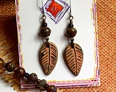 Petals..Coordinated Jewelry, Art Bead Earrings, Nature Fashion, Dangle Earrings, cabe15