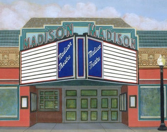 The Madison Theater (Albany, New York) - Limited Edition Fine Art Giclee Print