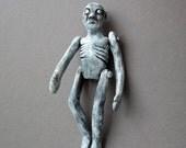 Long Leonard -  Paper Mache - OOAK Art Doll - One of a Kind Spooky Guy - Wall Hanging