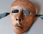 OOAK Handmade Wooden Looking Wall Mask for Halloween, Masquerade,Ren Faire - One of a Kind