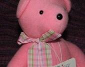1984 Pink BABY Bare BEAR Old Storee Stock, North American Bear Company