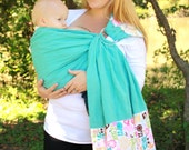 Baby Sling Linen Banded Ring Sling Baby Carrier - Woodland Owls -Instructional DVD Included - FAST SHIPPING