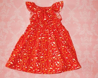 Merry and Bright (red) nelle dress, size 12mos.-8 girls
