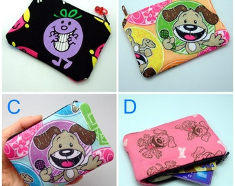 BIG SALE - Small zipper pouch / coin purse /ear phone bag/ card holder (padded) (GP7)