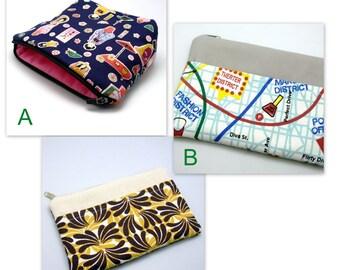 BIG Sale - LARGE flat bottom zipper pouch /cosmetic bag (padded) (ZL-GP7)