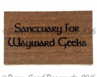 Sanctuary for Wayward Geeks™ doormat geek nerd nerdy