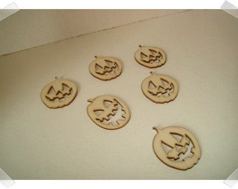 Unfinished Wooden Cutouts- 6/Pumpkins OR 6/Reindeers/ Craft Supplies*