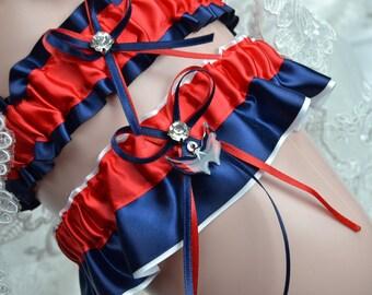 Wedding Garter Set Washington Capitals-Theme Wedding Garter Bridal Garter