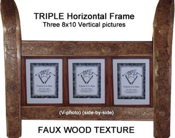 CUSTOMIZE your TRIPLE Ski Frame made in Vermont and handcrafted out of Recycled Skis makes a ski gift for skiers
