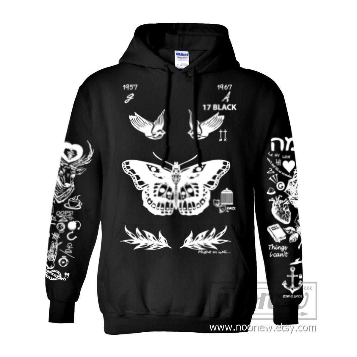 Larry Stylinson Tattoo Hoodies Sweatshirts Women Sweater Long