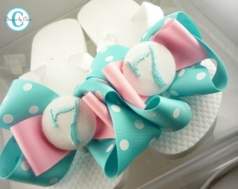 Customized Birthday Flip Flops, great gift for girls and ladies sandals
