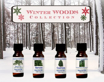 Set of 4 Winter Wonderland Essential Oils for Diffusing/Room Sprays