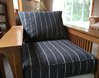 "Chair Cushion Covers,Backs 27 1/8"" x 19"" x 5.25"",Seat Covers 25"" x 25"" x 5.25"",Use Your Fabric,You Pay Shipping."