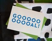GOOOOOOAL! Soccer Congratulations Card