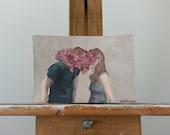 Keeping Secrets Original Acrylic Painting