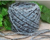 40% OFF SALE Ashley Blue Combo Yarn Designer Novelty Lashy Furry Blue & Black Yarn YOMD   Bin B