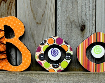 BOO Wood Letter Decor