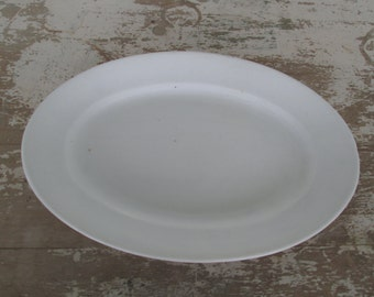 White Ironstone Platter Oval platter Simply White Decor Farmhouse Farm House Rustic Prairie Country Cottage Chic Farm