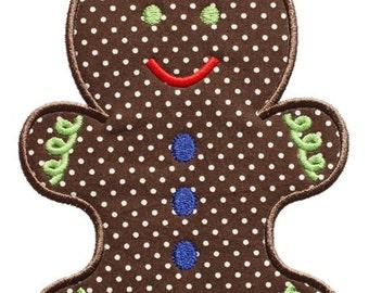 527 Gingerbread Man 2 Machine Embroidery Applique Design