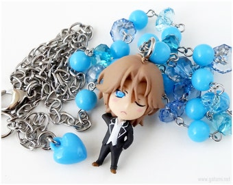 En Yufuin Figure Necklace, Blue, Beaded, Anime Jewelry, Cute High Earth Defense Club, Bishounen