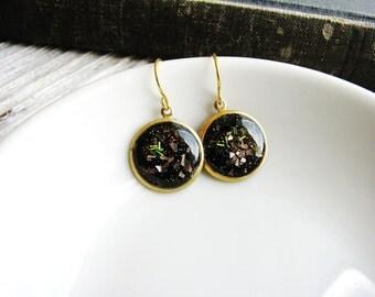 Space Galaxy Earrings, Faux Stone Earrings, Small Dangle Earrings, Fashion Jewellery, Minimalist Earrings