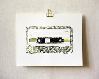 Art Print, Wall Art, 8x10, 11x14 - Mixtape